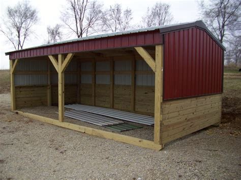 loafing shed kits missouri livestock shed on skids motorcycle review and galleries