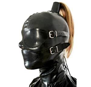 Amazon.com: SmithLoversSM Rubber Mask with Wig Fetish Hood