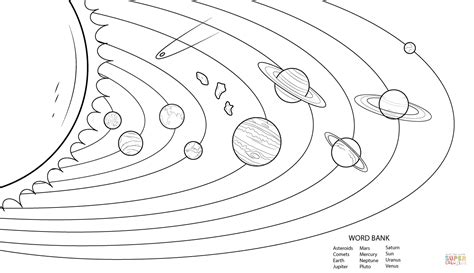 solar system clipart black and white coloringpages free printable solar system coloring pages