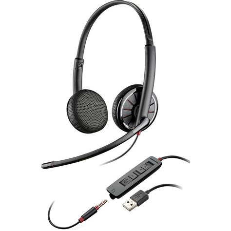 plantronics 300 blackwire headset usb uc computer version stereo weight