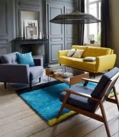 Tapis Salon Bleu Et Gris by Les 25 Meilleures Id 233 Es Concernant Gris Bleu Jaune Sur