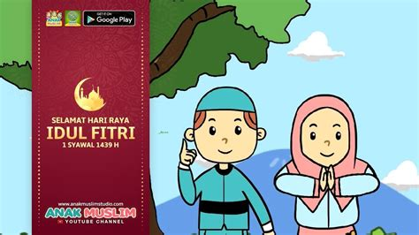 gambar kartun muslimah selamat idul fitri ala model