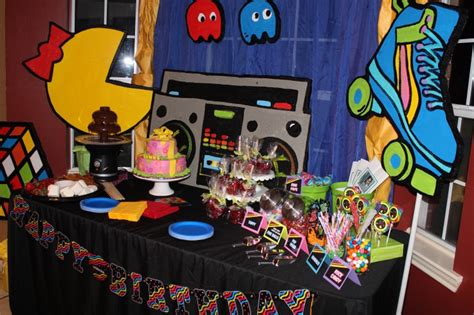 Table Setting For 80's Party  I Want My Mtv (80's Theme