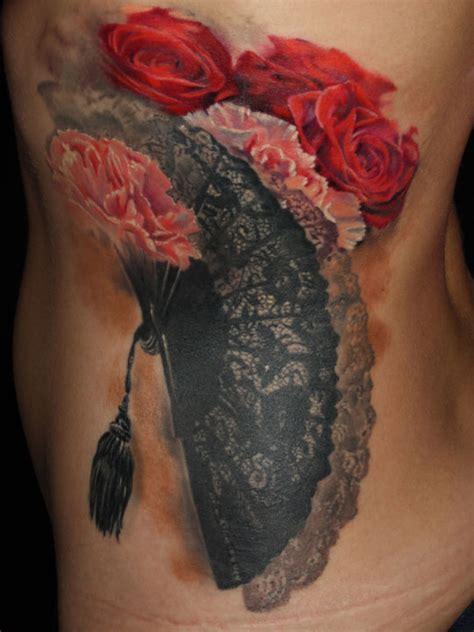 realistic flower tattoo  laura juan design