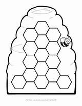 Honeycomb Bee Worksheets Preschool Worksheet Math Addition Lesson Subtraction Honeycombs Beehive Mailbox Plans Letters Coloring Pages Themailbox Racing sketch template
