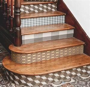 Contre Marche Deco : papier peint pour les contre marches d 39 un escalier stairs pinterest ~ Dallasstarsshop.com Idées de Décoration