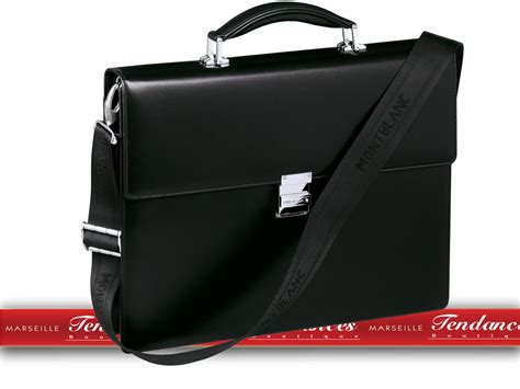 maroquinerie montblanc cartable  soufflet