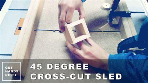create perfect mitered corners   degree cross cut