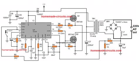 3 high power sg3525 sinewave inverter circuits circuit projects