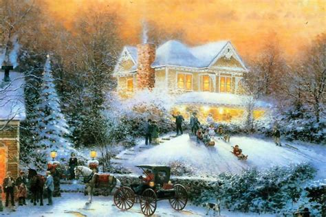 thomas kinkade christmas wallpapers free thomas kinkade