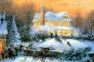 Thomas Kinkade Christmas Wallpapers | Free Thomas Kinkade ...