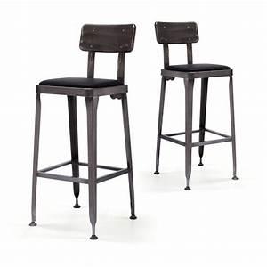Chaise Bar Cuisine : tabouret de bar industriel style starbuck benvenuto par drawer ~ Teatrodelosmanantiales.com Idées de Décoration
