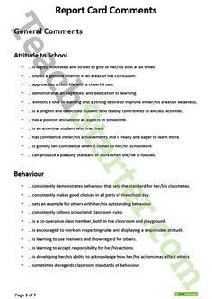 report card comments images report card comments