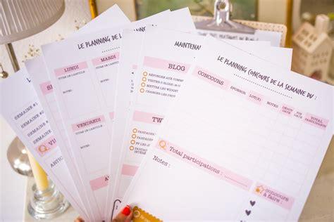 bien organiser bureau kit planning à télécharger de la blogueuse organisée