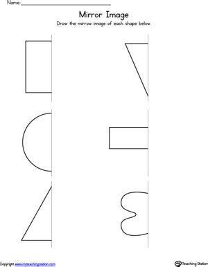 basic shapes mirror image worksheet mirror image shapes