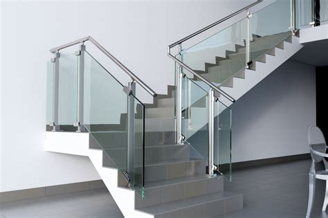 the home interiors stainless steel glass stair landing balustrade stairs