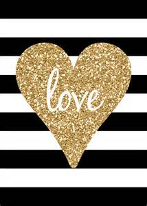 Free Printable Black and Gold Love Sign
