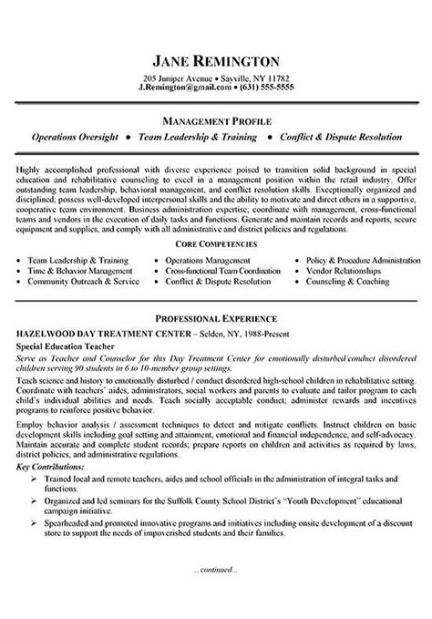 Change Management Resume Profile by Manager Career Change Resume Exle
