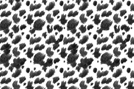 Cowhide Faux Fabric by Faux Cow Hide Charcoal Fabric Thistleandfox Spoonflower