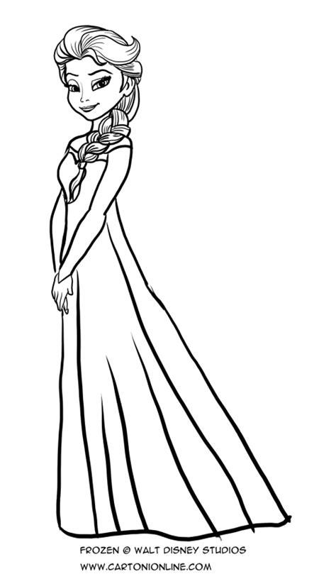 principesse da colorare elsa disegno da colorare di elsa a figura intera