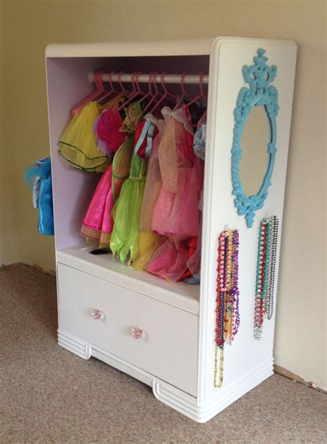 toddler dress up closet dresser turned into a dress up closet kid stuff