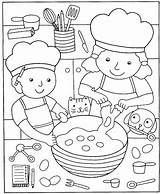Coloring Pizza Pages Cooking Kitchen Printable Popular sketch template