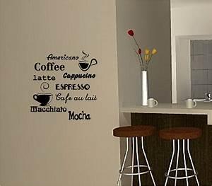 COFFEE wall art sticker vinyl quote KITCHEN CAFE eBay