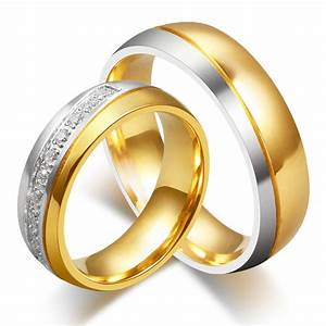 high quality stainless steel wedding band anniversary gift With men and women wedding ring sets