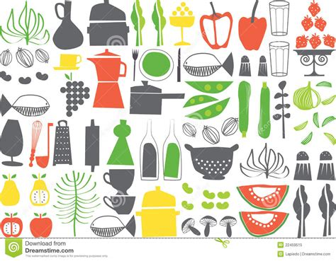 Vector   Cooking Elements Royalty Free Stock Photo   Image: 22459515