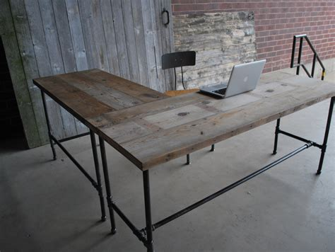 shape modern rustic desk   reclaimed wood choose
