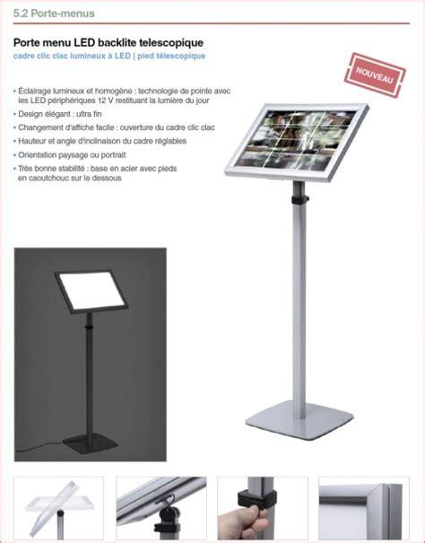 porte menu lumineux exterieur porte menu lumineux d ext 233 rieur sur pieds ou mural naj mobilier de bureau