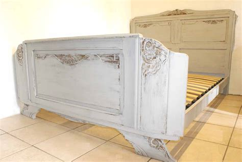 grey shabby chic 1930s french shabby chic double grey bed includes base