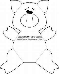 felt pig pattern silver seams diy pinterest With pig puppet template