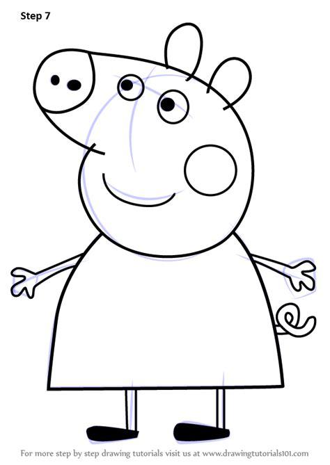 learn   draw mummy pig  peppa pig peppa pig