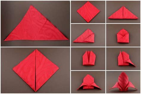 Anleitung Zum Servietten Falten servietten falten anleitung schleppe rot ideen