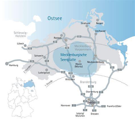 Karte Mecklenburger Seenplatte