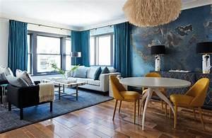 12, Incredible, Blue, Living, Room, Colour, Scheme, Ideas