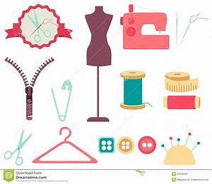 Set Of Sewing Tools And Accessories Stock Vector ...