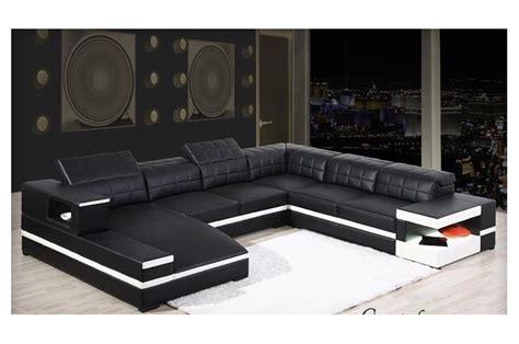 canapé 2 places cuir noir canapé d 39 angle panoramique avec méridienne en cuir italien