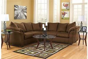 Brown or gray sectional sofa ashley darcy signature for Sectional sofa pieces sold separately