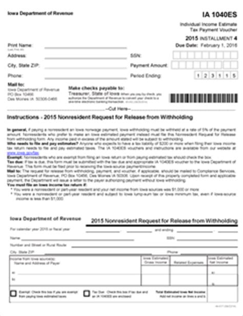 form ia 1040es fillable estimated tax coupons for 2015 45 002