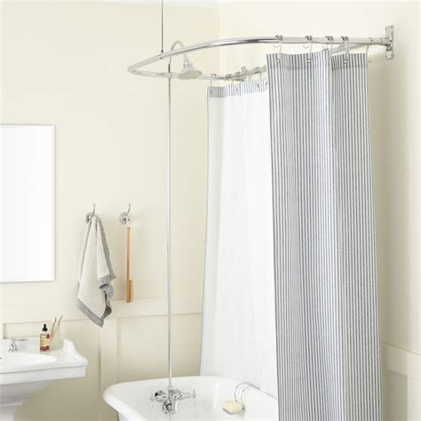 clawfoot tub shower conversion kit  style shower ring
