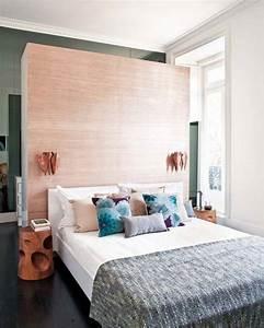 Vorhang Für Bett : wohnideen schlafzimmer den platz hinterm bett verwerten freshouse ~ Whattoseeinmadrid.com Haus und Dekorationen