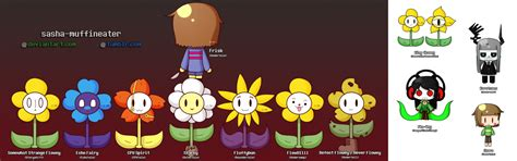 spirit of my king cross frisk and the 7 special floweys by