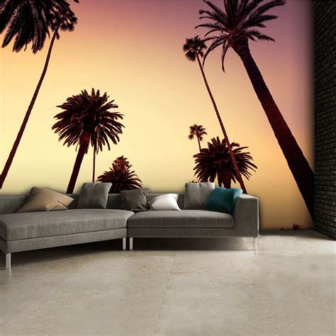 1wall tree wallpaper mural california palm trees wall mural 315cm x 232cm