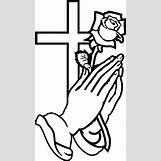 Cartoon Praying Hands With Rosary | 240 x 425 jpeg 54kB