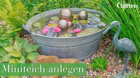 Balkon Garten Anlegen by Anleitung Miniteich F 252 R Garten Und Balkon Anlegen
