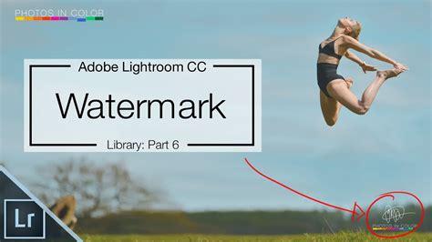 lightroom  tutorial   create signature watermark