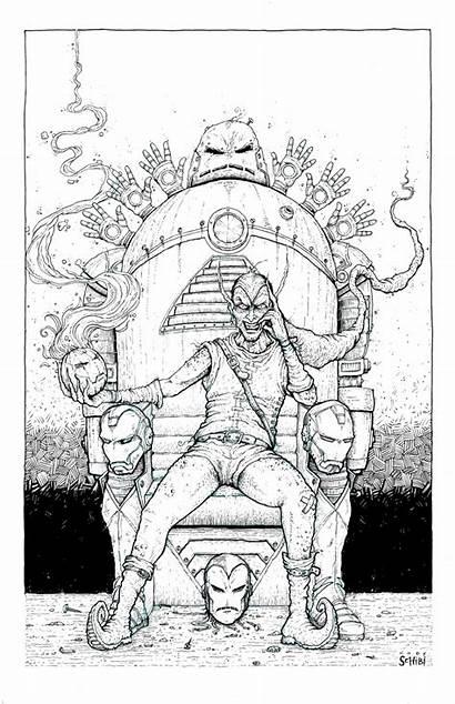 Throne Drawing Goblin Iron Getdrawings