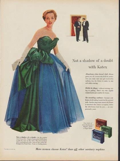 kotex vintage ad   shadow   doubt